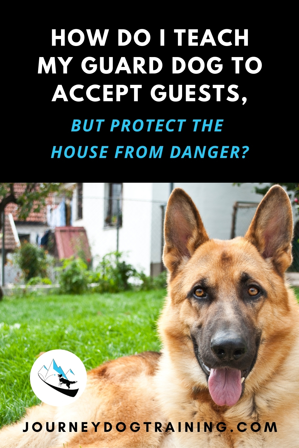 How Do I Teach My Guard Dog to Accept Guests, But Protect the House From Danger? Many of us like the idea of a guard dog who helps to keep the house safe. What better deterrent from criminals than a big, scary guard dog with a booming bark? We want a guard dog who can hold down the fort while we're gone or sleeping, but who will also happily accept family and friends in the home, cuddle with our nephews, and politely greet strangers on walks. https://journeydogtraining.com/guard-dog-training/